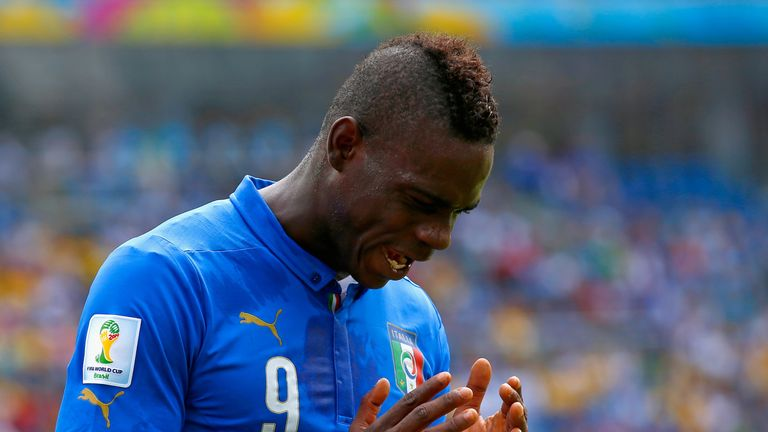 Mario Balotelli last featured for Italy at the 2014 World Cup