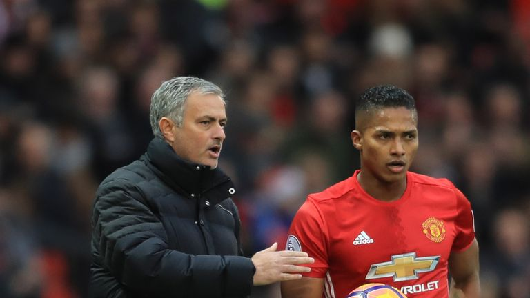 Jose Mourinho (left) believes there is no better right-back in football than Antonio Valencia