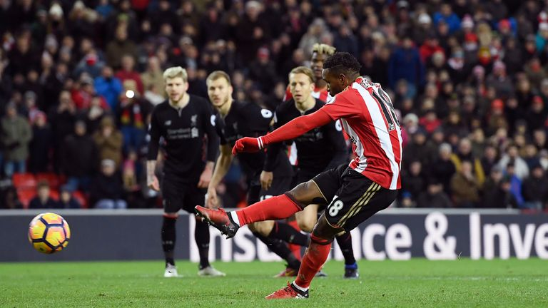 Jermain Defoe converts his penalty at the Stadium of Light to secure a crucial point for Sunderland