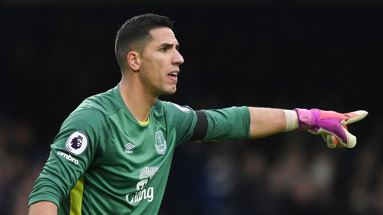Joel Robles failed to make a single Premier League appearance for Everton last season.