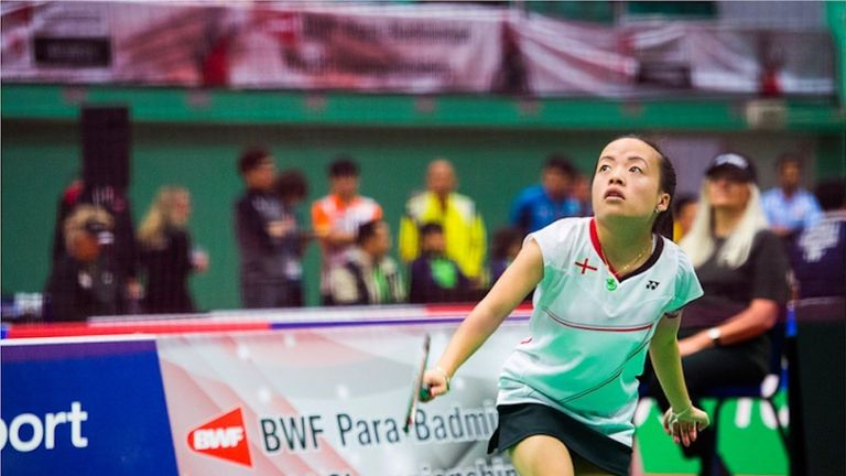 Choong is the No 1 ranked short stature (SS6) player in the world (pic: Action Photography)