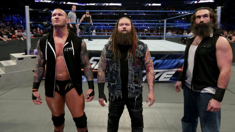 Wyatt says Randy Orton (left) and Luke Harper (right) would sacrifice themselves for him
