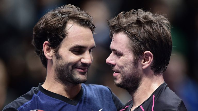 Wawrinka [right] could meet Roger Federer in Rotterdam this week