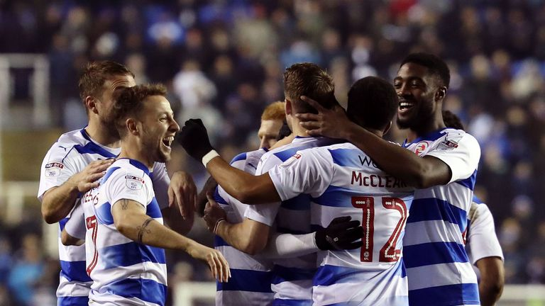 Reading's Roy Beerens celebrates his second half strike