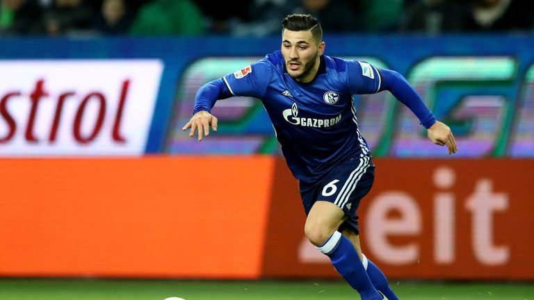 Sead Kolasinac in action during the Bundesliga match between VfL Wolfsburg and FC Schalke 04