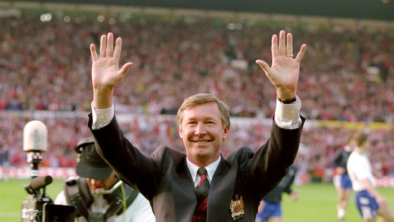 Ferguson was manager at United for 27 years between 1986 and 2013