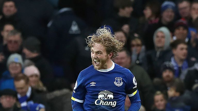 Everton's Tom Davies has won the Premier League PFA Fans' player of the month award for January