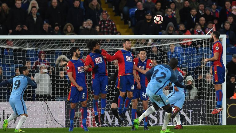 Yaya Toure scored against Crystal Palace in the FA Cup in January