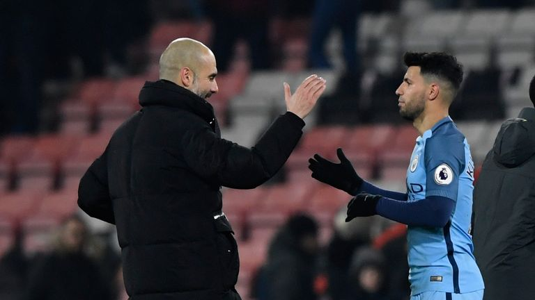 Aguero says he gets on well with City boss Pep Guardiola