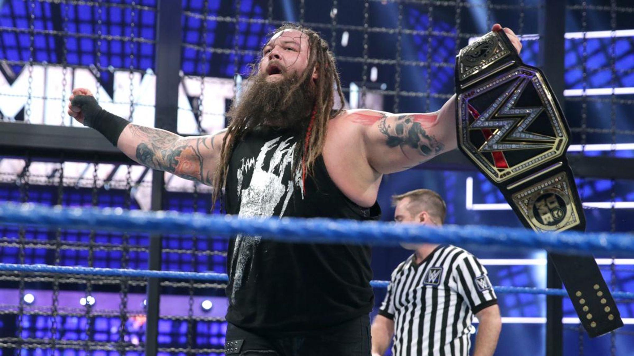 Bray Wyatt wins first WWE Title inside the Elimination Chamber | WWE News |  Sky Sports
