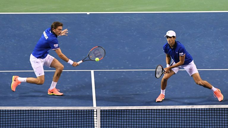 Nicolas Mahut and Pierre-Hugues Herbert seal an easy win for France who have taken an unassailable 3-0 lead in Tokyo