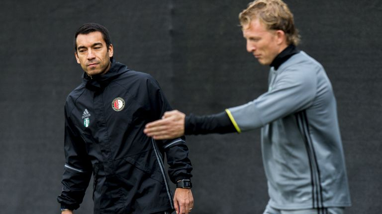 Former Arsenal and Barcelona defender Giovanni van Bronckhorst is leading Feyenoord's title challenge
