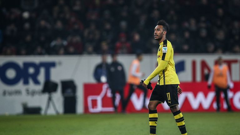 Pierre-Emerick Aubameyang is open to a transfer in the summer