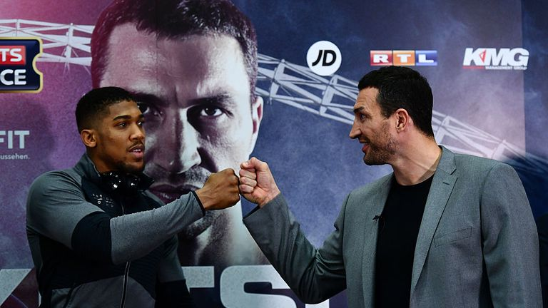 Wladimir Klitschko and Anthony Joshua have been respectful to each other so far