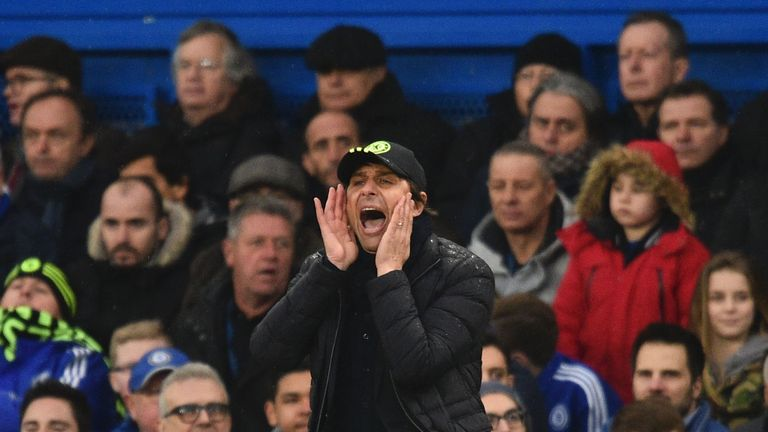 Conte's Chelsea are 10 points clear at the top of the league in his first season