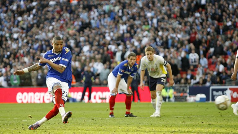 Boateng scored against Spurs for Portsmouth in the FA Cup semi-final in 2010