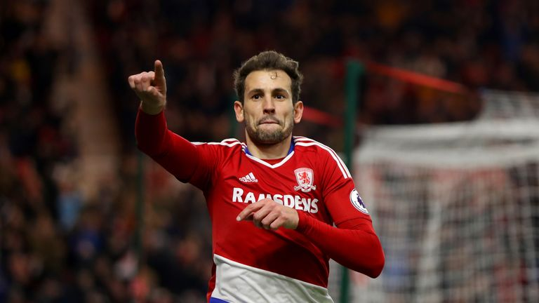 Cristhian Stuani has left Middlesbrough for Girona