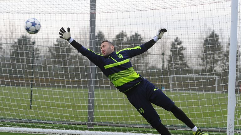 Arsenal goalkeeper David Ospina has got the nod ahead of Petr Cech