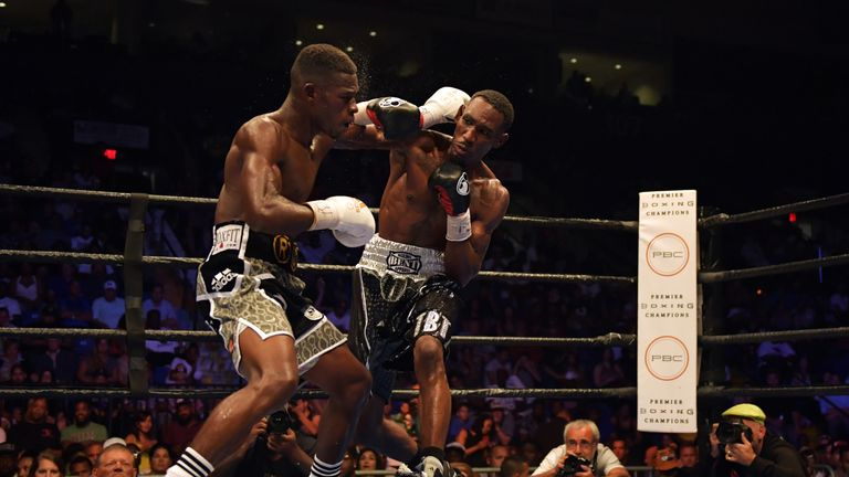 Robert Easter Jr (right) previously won the IBF title against Richard Commey