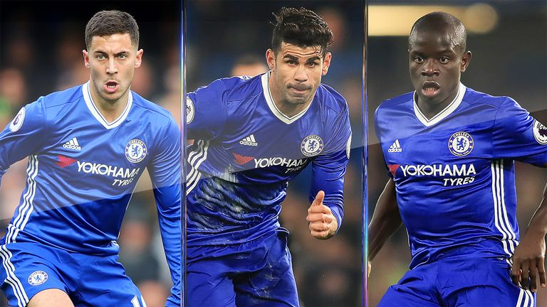 Eden Hazard and N'Golo Kante were key but Costa's role was vital as well