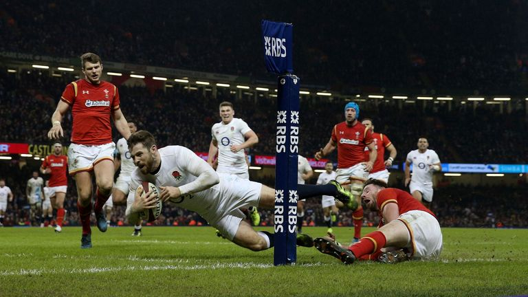 Elliot Daly scored a dramatic late winner against Wales in Cardiff in 2017