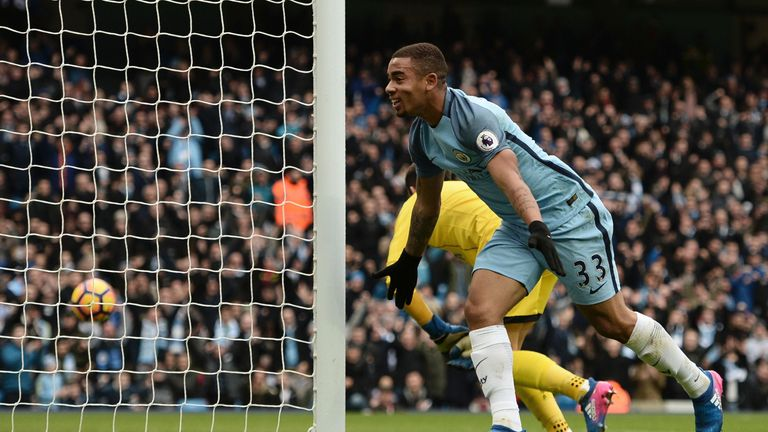 Gabriel Jesus started ahead of Sergio Aguero for the second game running