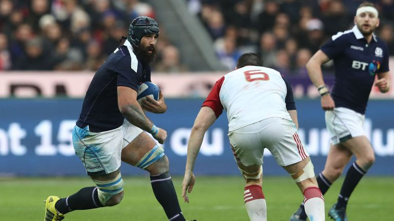 Josh Strauss in action for Scotland in Paris before suffering a kidney injury