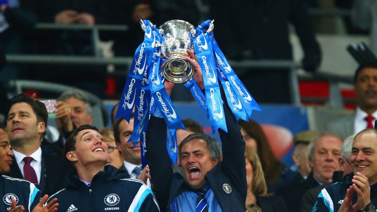 Jose Mourinho could win the League Cup for a record-equalling fourth time on Sunday