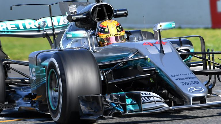79fe5e2cf98 Lewis Hamilton delighted with new Mercedes car after fast start to 2017