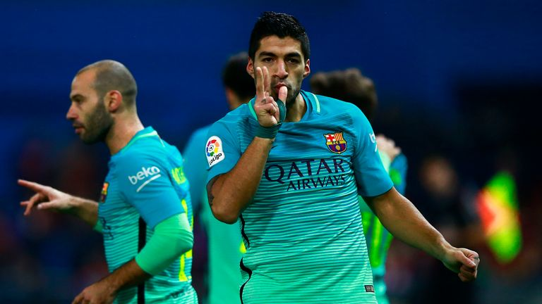 Luis Suarez laid the foundation for Barca's first-leg win at the Vicente Calderon