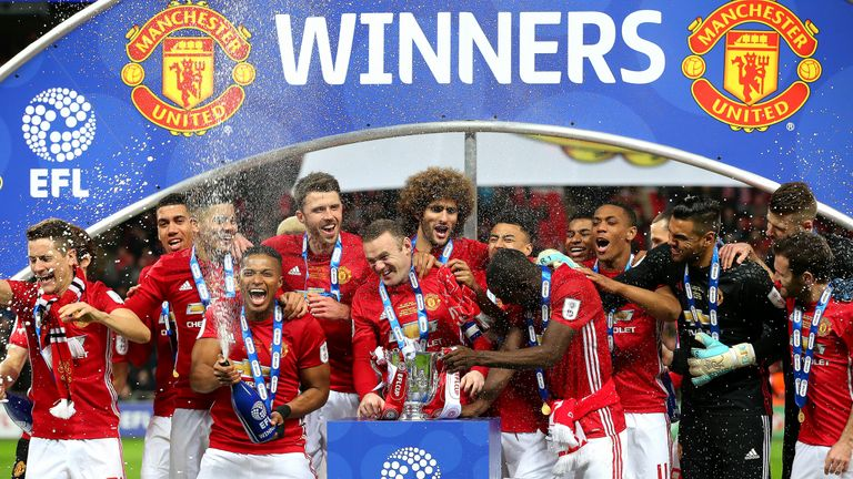 Manchester United won the league cup last season with a 3-2 win over Southampton
