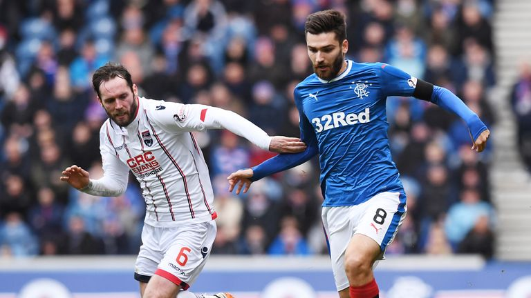 A 1-1 draw with Ross County left Rangers with just one win in their last five games