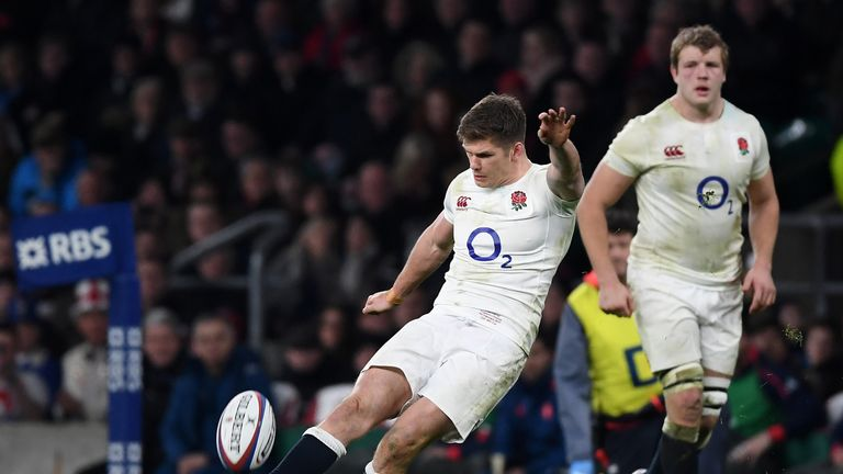 Owen Farrell kicked three penalties and converted Te'o's try
