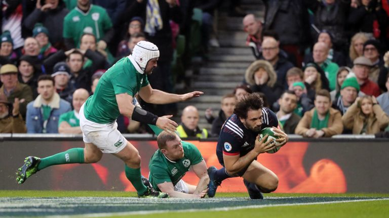 Remi Lamerat's try was ruled out by the TMO for a knock-on