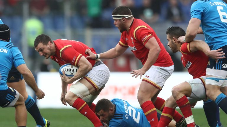 Sam Warburton made 14 carries against Italy