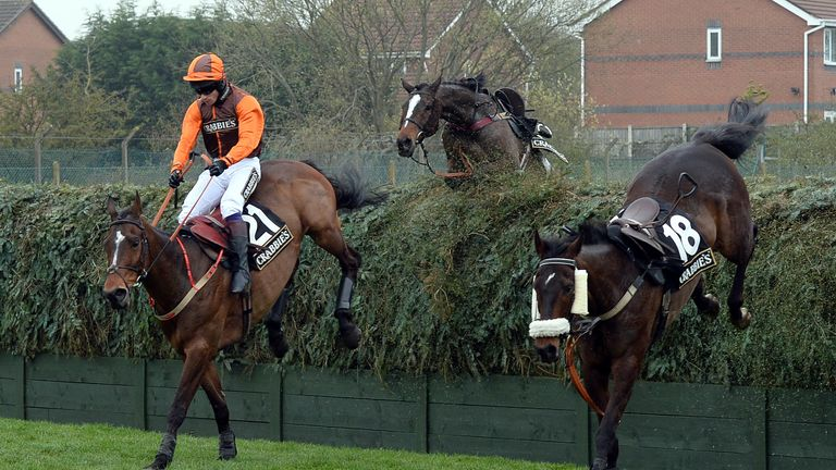 Action from the Becher Chase