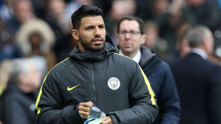 Sergio Aguero had to watch on from the bench