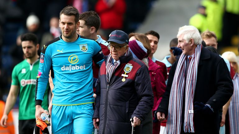 Burnley's oldest fans act as mascots in FA Cup tie against ...