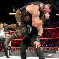 wwe wow moment of the week roman reigns devastating spear wwe