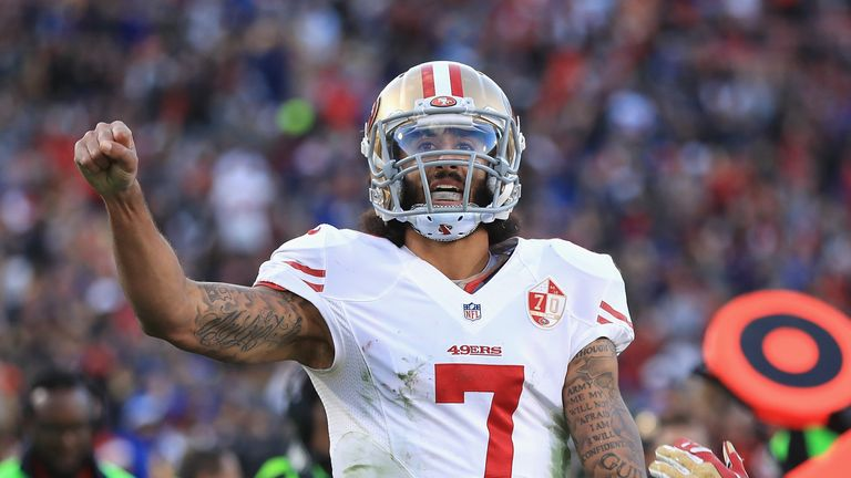 Quarterback Colin Kaepernick is currently a free agent