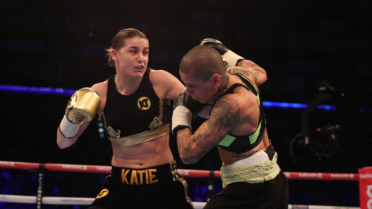 Katie Taylor won her third professional bout at the weekend (Pic: Lawrence Lustig)