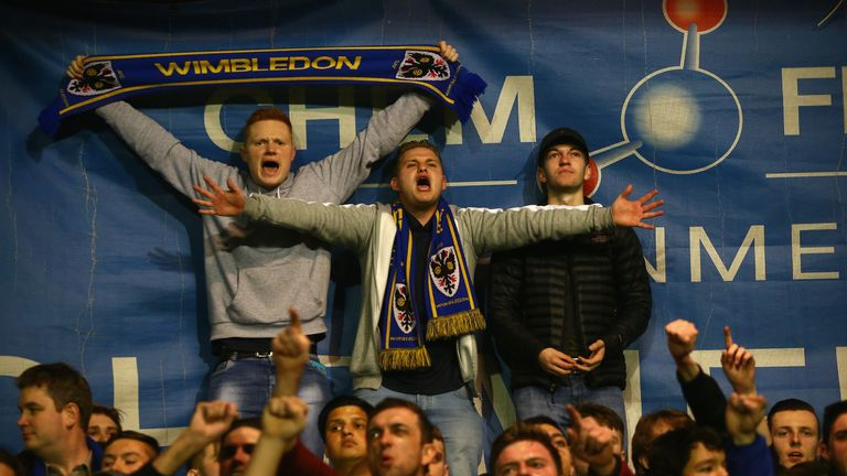 AFC Wimbledon often pack out the Cherry Red Records Stadium and are building an 11,000-seater arena on the Plough Lane site