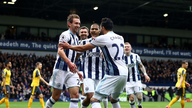Craig Dawson's headed double inspired West Brom to victory over Arsenal