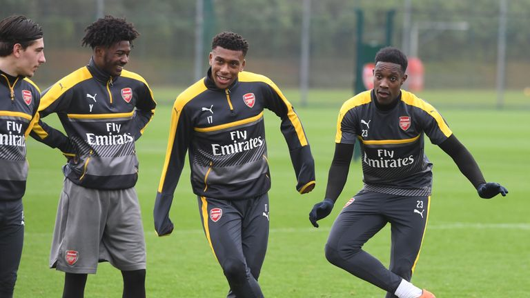 Alex Iwobi and Danny Welbeck are doubts for Arsenal's clash with Lincoln