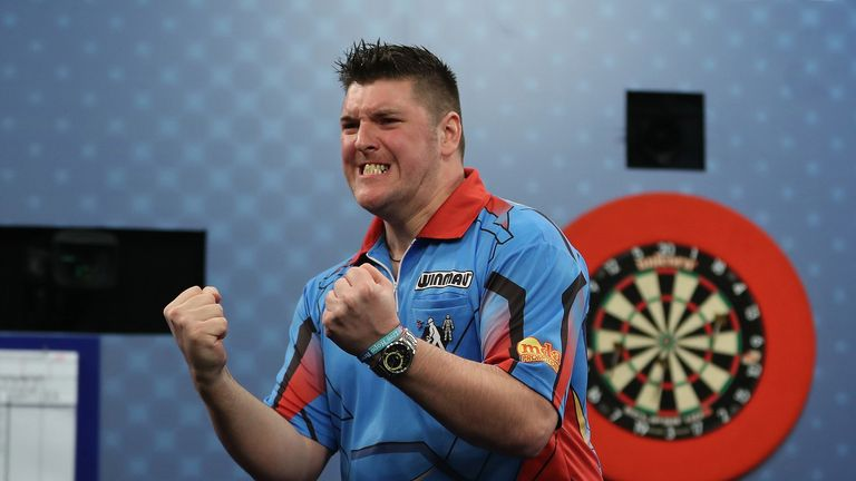 Daryl Gurney was appearing in his first  World Series of Darts final (Pic: Lawrence Lustig)