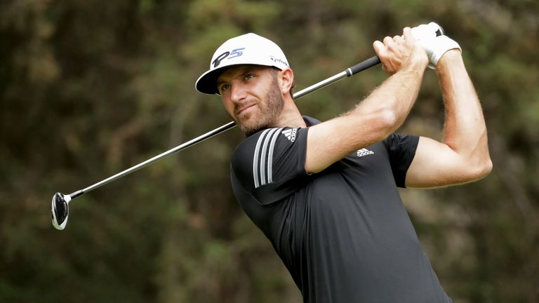 Dustin Johnson returns to the golf course after the birth of his second son