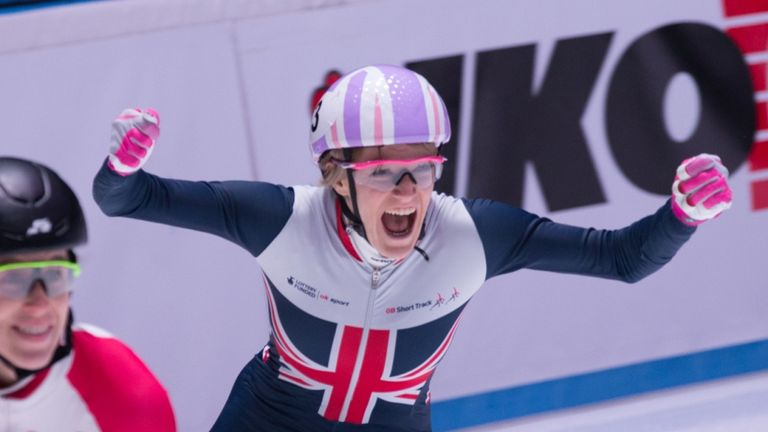 Christie won the 1000m, 1500m and overall title in Rotterdam