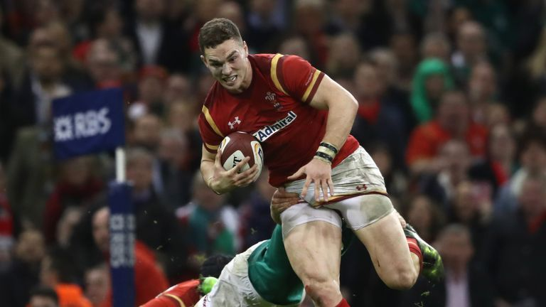 George North scored two tries for Wales in their Six Nations victory over Ireland