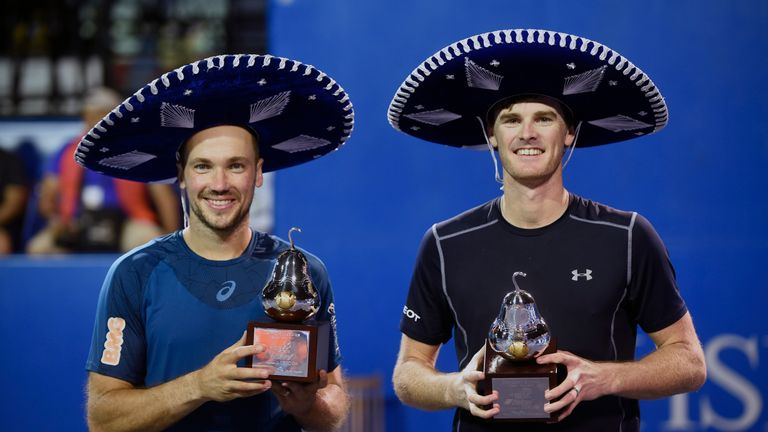 Jamie Murray also clinched a title in Acapulco, winning the Mexico Open doubles final alongside Brazilian Bruno Soares