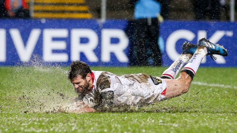 Jared Payne was back in action for Ulster last Friday night
